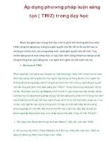Áp dụng phương pháp luận sáng tạo ( TRIZ) trong dạy học docx