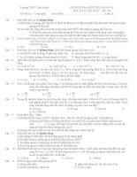 ĐỀ KIỂM TRA MỘT TIẾT BÀI SỐ 01 HỌC KỲ II LỚP 12 NC – ĐỀ 104 pps