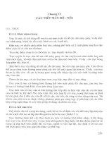 Giáo trình CƠ SỞ KỸ THUẬT CƠ KHÍ - Chương 15 doc