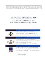 BẢN CÔNG bố THÔNG TIN bán đấu GIÁ cổ PHẦN lần đầu TỔNG CÔNG TY xây DỰNG BẠCH ĐẰNG tổ CHỨC THỰC HIỆN đấu GIÁ tổ CHỨC PHÁT HÀNH tổ CHỨC tư vấn tháng 12 năm 2013