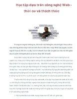 Học tập dựa trên công nghệ Web thời cơ và thách thức pdf