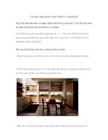 Các lưu ý khi trang trí nhà (Phần 2)- Chọn đồ gỗ docx