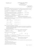 ĐỀ KIỂM TRA TRẮC NGHIỆM MÔN Vật lý 12 - Trường THPT Trà Cú pdf