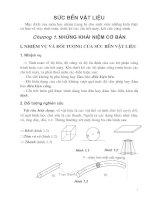 Giáo trình sức bền vật liệu - Chương 1 ppt