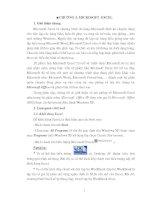 GIÁO TRÌNH TIN HỌC ỨNG DỤNG - CHƯƠNG 3 ppt