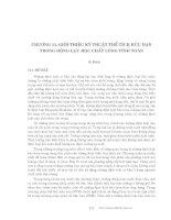 Động lực học chất lỏng tính toán - Chương 11 ppt
