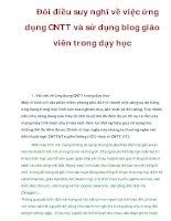 Đôi điều suy nghĩ về việc ứng dụng CNTT và sử dụng blog giáo viên trong dạy học ppsx