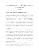 TÀI LIỆU ÔN TẬP THI TỐT NGHIỆP MÔN TIẾNG ANH Năm học 2010- 2011 Part 22 pptx