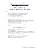 Note Taking and Learning A Summary of Research phần 6 ppsx