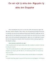 Cơ sở vật lý siêu âm- Nguyên lý siêu âm Doppler ppsx