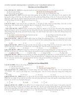 Sóng cơ trong đề thi ĐH (có lời giải)
