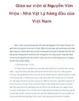 Giáo sư viện sĩ Nguyễn Văn Hiệu - Nhà Vật Lý hàng đầu của Việt Nam potx