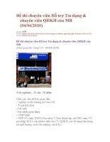 Đề thi chuyên viên Hỗ trợ Tín dụng vào ngân hàng MB potx