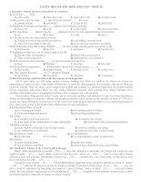 LUYỆN THI CẤP TỐC MÔN ANH VĂN – TEST 36 pdf