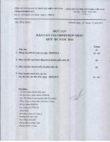 CÔNG TY cổ PHẦN vận tải và THUÊ tàu BIỂN VIỆT NAM mục lục báo cáo tài chính hợp nhất quý 3 năm 2011
