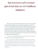 Dạy học trực tuyến và soạn giáo trình điện tử với ToolBook Assistant potx