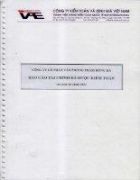 công ty cổ phần văn phòng phẩm hồng hà báo cáo tài chính được kiểm toán cho năm tài chính 2011