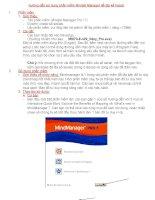 Hướng dẫn sử dụng phần mềm Mindjet Manager để lập kế hoạch pptx