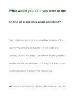 What would you do if you were at thescene of a serious road accident? ppsx