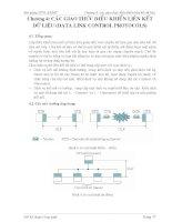 Bài giảng thông tin dữ liệu và mạng máy tính - Chương 4 ppt