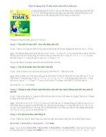 Phương pháp giải toán lớp 5 - Một số dạng bài về dấu hiệu chia hết ở tiểu học pdf