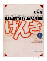 genki 1 an integrated course in elementary japanese1 phần 1 pdf