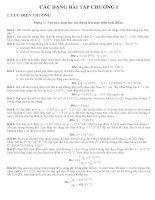 CÁC DẠNG BÀI TẬP VẬT LÝ LỚP 11 CHƯƠNG I potx