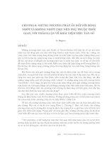 Động lực học chất lỏng tính toán - Chương 9 docx