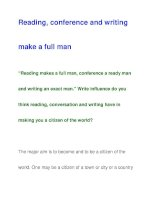 conference and writingmake a full man docx