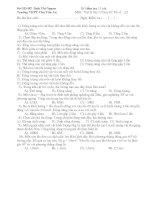 Bi kiểm tra 15 phút Môn : Vật lý lớp 10 Ban BC - Đề số A2 doc