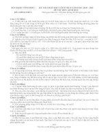 Đề thi học sinh giỏi môn sinh học lớp 9 - tỉnh Vĩnh Phúc docx