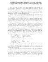 Giáo trình hướng dẫn phân tích quy trình vận dụng cấu tạo mạng hợp tinh thể của kim loại nguyên chất p1 potx