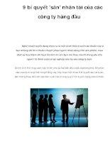 9 bí quyết ''''săn'''' nhân tài của các công ty hàng đầu pps