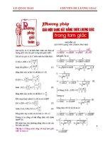 Hướng dẫn giải các bài tập lượng giác pot