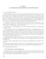 Giáo trình CƠ SỞ KỸ THUẬT CƠ KHÍ - Chương 16 pps