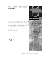 Phát triển AutoCAD bằng ActiveX & VBA - Chương 11 ppsx
