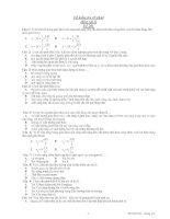 Đề kiểm tra 45 phút Môn vật lý - Đề 201 pdf
