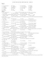 LUYỆN THI CẤP TỐC MÔN ANH VĂN – TEST 40 pdf
