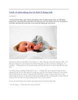 Cách vệ sinh miệng cho bé dưới 2 tháng ppsx