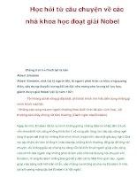 Học hỏi từ câu chuyện về các nhà khoa học đoạt giải Nobel pdf