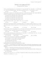 Đề kiểm tra trắc nghiệm môn Vật Lý pdf