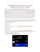 Ứng dụng đầu tiên của Việt Nam có mặt trên BlackBerry App World ppsx