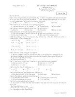 ĐỀ KIỂM TRA TRẮC NGHIỆM MÔN Vật lý 12 - Mã đề 524 pot