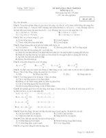 ĐỀ KIỂM TRA TRẮC NGHIỆM MÔN Vật lý 12 - Mã đề 209 docx