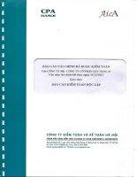 báo cáo tài chính đã được kiểm toán của công ty mẹ công ty cổ phần xây dựng 47 cho năm tài chính kết thúc ngày 31 tháng 12 năm 2013 kèm theo báo cáo kiểm toán độc lập