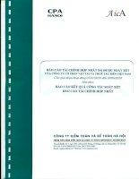 Báo cáo tài chính hợp nhất soát xét công ty cổ phần vận tải và thuê tàu biển việt nam giai đoạn hoạt động từ 1 1 2010 đến 30 06 2010 báo cáo kết quả công tác soát xét tài chính hợp nhất