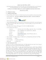 BÁO cáo THƯỜNG NIÊN CÔNG TY cổ PHẦN DỊCH vụ HÀNG KHÔNG sân BAY đà NẴNG năm báo cáo 2013