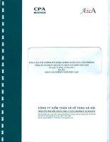 Báo cáo tài chính đã được kiểm toán của văn phòng CÔNG TY cổ PHẦN vận tải và THUÊ tàu BIỂN VIỆT NAM tại ngày 31 tháng 12 năm 2012 kèm theo báo cáo kiểm toán độc lập