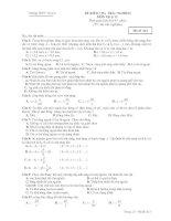 ĐỀ KIỂM TRA TRẮC NGHIỆM MÔN Vật lý 12 - Mã đề 613 pdf