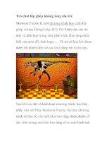 Trò chơi lắp ghép khủng long cho trẻ pot